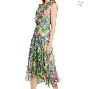 Saloni Rita silk ruffle dress NWT size 10